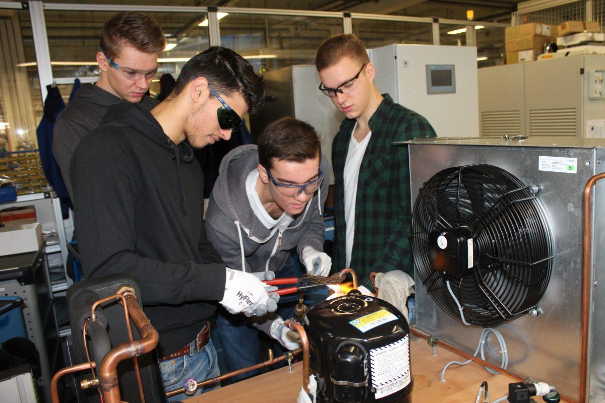 Das Kältetechnik-Projekt mit den Schülern des AWG's aus Warendorf